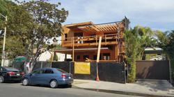 Modern house construction facade