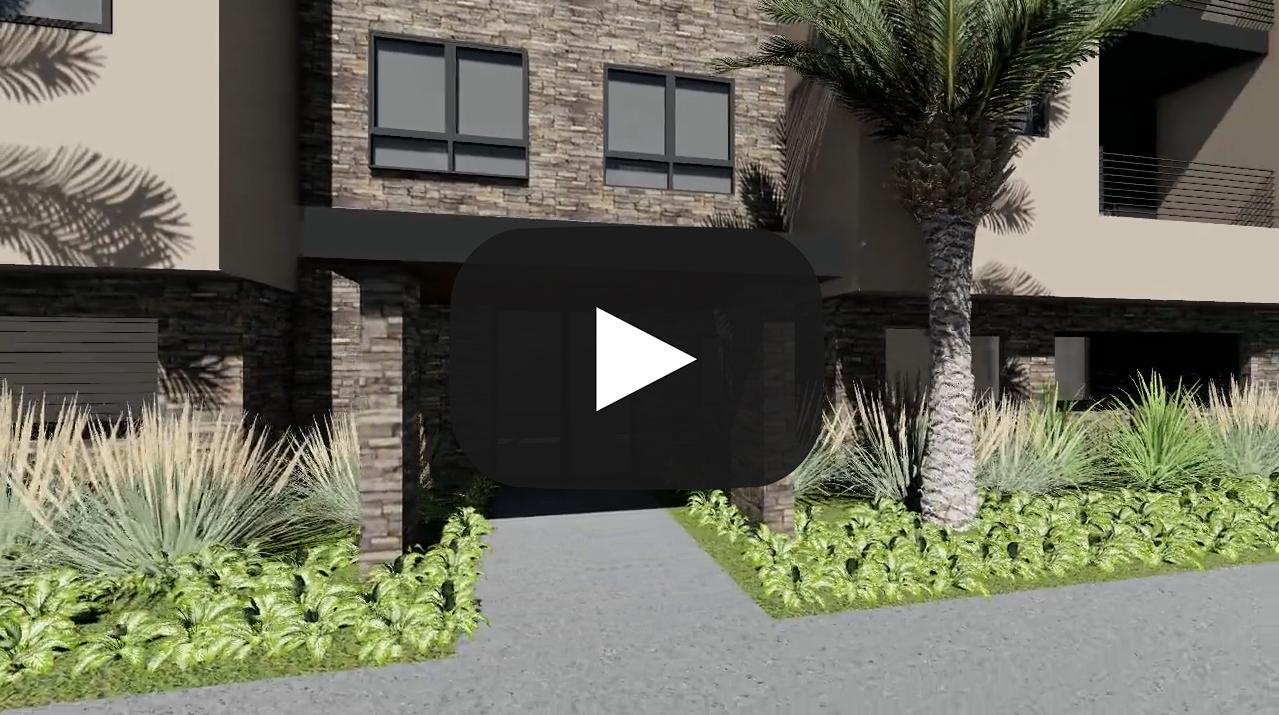 Town homes rednering