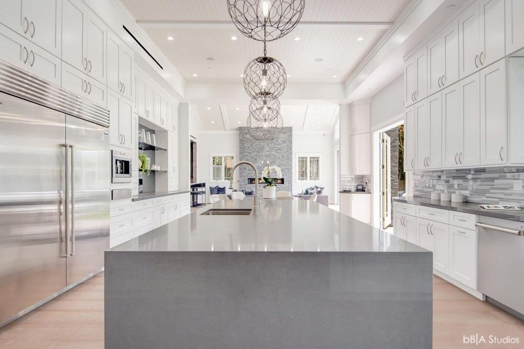 Large Kitchen Countertop View