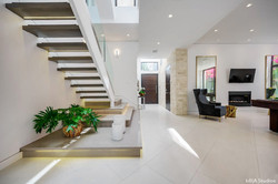 Interior Walkway of Modern Home