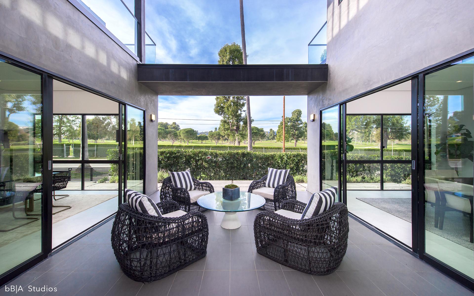 Indoor Outdoor Sitting Area