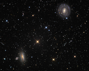 Photo of galaxies from constellation Hydra.