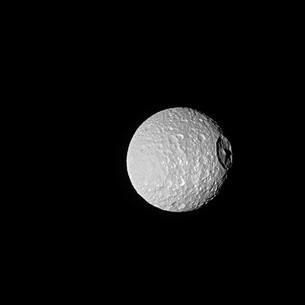 Mimas, Crater, and Mountain