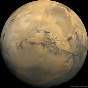 Valles Marineris: The Grand Canyon of Mars.
