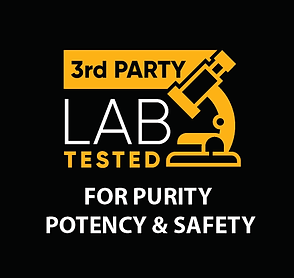 Third Party Lab Tested for known contaminants common in hemp, to ensure Potency, Purity and Safety for peach of mind.