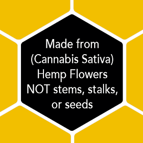 Made only from female Cannabis Sativa flowers, not stalk, stems or seeds, for a more potent full spectrum profile.