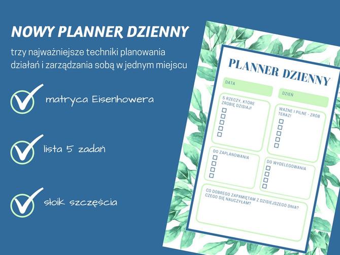 Planner dzienny - najważniejsze techniki planowania i zarządzania sobą w jednym miejscu!