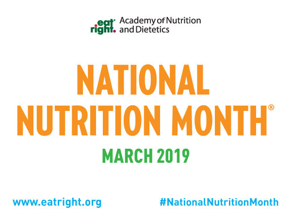 National Nutrition Month Poster by the Academy of Nutrition and Dietetics.