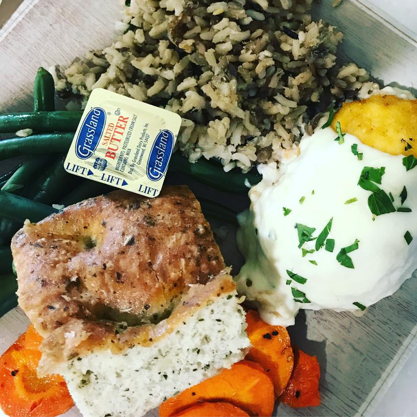 A balanced Osprey Cafe meal.