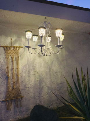 Chandelier with Solar Light