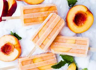 Peaches + Cream Smoothie Popsicles