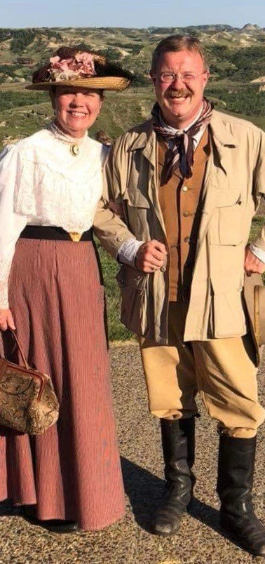 See, Meet, Greet, Hear...event images President Roosevelt & First Lady Edith Roosevelt - portrayed by Larry and Julia Marple.