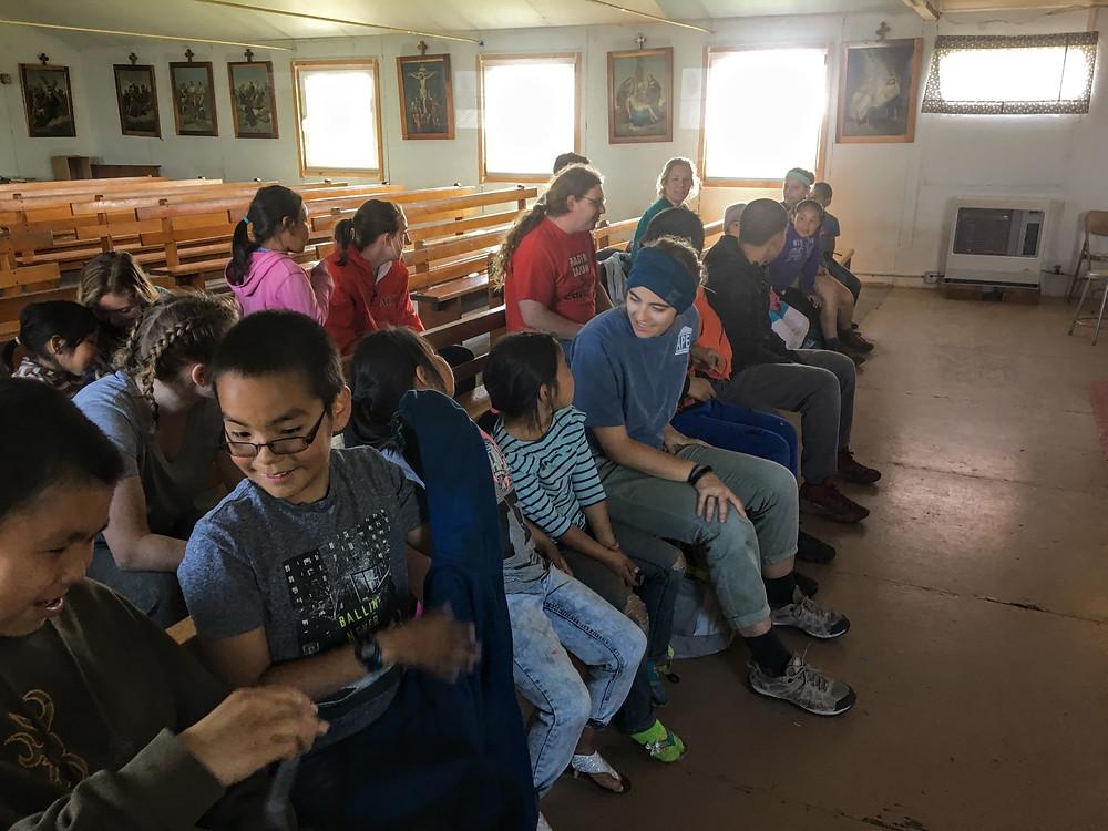 missionaries and kids from Kotlik, Alaska