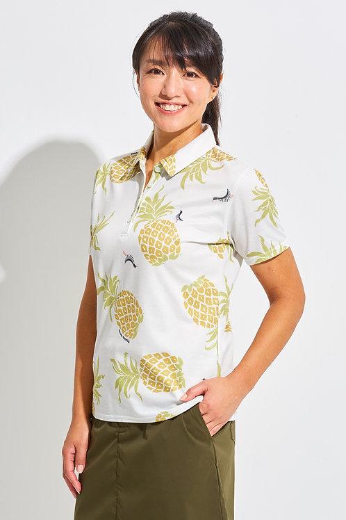 Tee-chi レディースポロシャツ <PAIKAJIコラボ パイナップルTee-chiくん2020><MULTI>