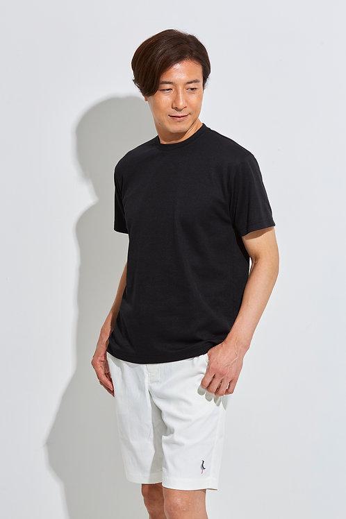 Tee-chi メンズTシャツ <クルーネック><BLACK>