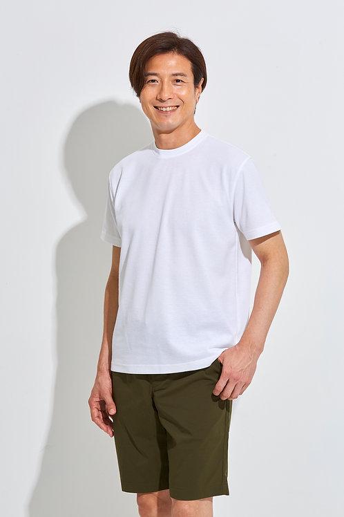 Tee-chi メンズTシャツ <クルーネック><WHITE>