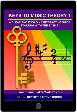 Cover:  Keys to Music Theory 1 shown on an Apple iPad