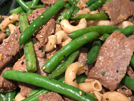 Easy Family Dinners: Garlicky Ginger Beef with Green Beans