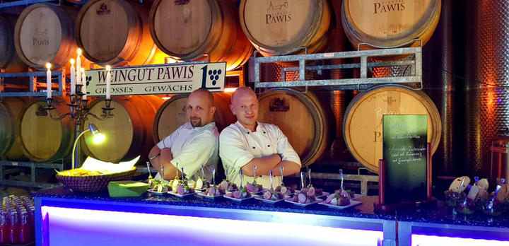 Eventcatering im Weingut Pawis