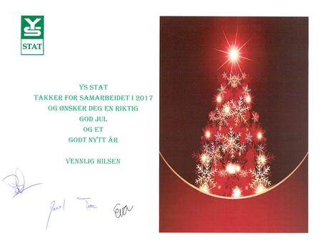 #jegerstatsansatt ønsker deg og dine en riktig god jul og et godt nytt år!