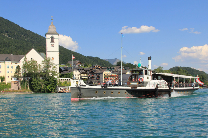Bootsfahrt vor St. Wolfgang