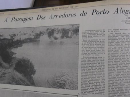 A paisagem dos arredores de Porto Alegre