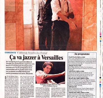 PIERRE-YVES PLAT et CLAUDE BOLLING au théâtre Montansier (Versailles)