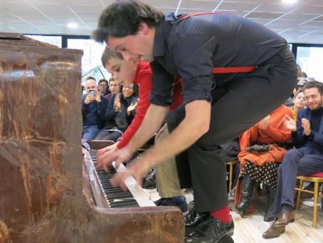 Vous prendrez bien un morceau de … piano en chocolat !