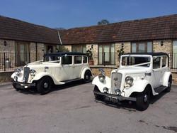 Kingscote barn, ivory wedding cars