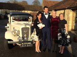 Kingscote barn, wedding transport