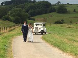 Kingscote barn, wedding cars