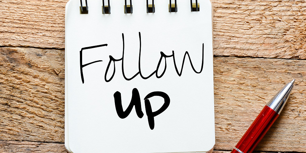 Broker's LLC: Ways to Follow Up.
