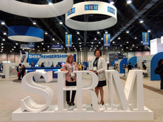 National SHRM 2019, Las Vegas, NV.  Angie and Katherine visit the SHRM booth.