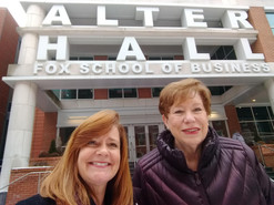 Angie and Marlyn visiting clients at the Fox School of Business - Temple University