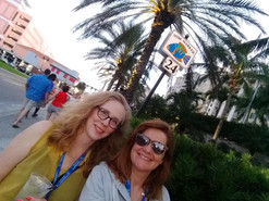 Debbie and Angie take in the sights during the Certified Resume Writer Conference in Clearwater, FL.