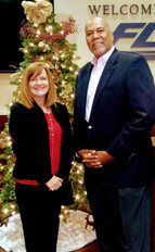 Angie and Melvin at the Winston-Salem SHRM Holiday Party