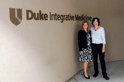 Claudia and Angie tapping into Mindfulness at Duke Integrative Medicine Facility.
