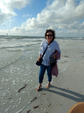 Vivian enjoying the Tampa area after delivering Career Transition Workshop for a Sponge Plant in Tarpon Springs, FL.