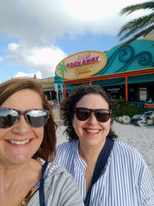Angie and Vivian enjoying the Tampa area after delivering Career Transition Workshop for a Sponge Plant in Tarpon Springs, FL.