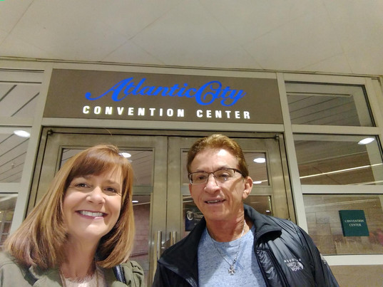 Angie and Sam at the Garden State SHRM Conference Atlantic City, NJ