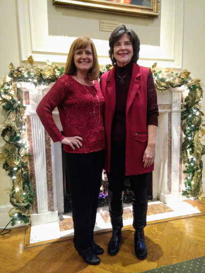 Claudia and Angie at the Charlotte Area SHRM Holiday Party.