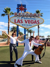 National SHRM Conference, Las Vegas, NV 2019. Katherine and Melvin get up close with Elvis!