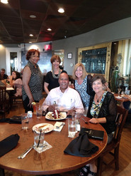 Team meeting at Top of the Hill in Chapel Hill with the coaching team (Katherine, Melvin, Claudia, Angie, and Christine. Happy Birthday Melvin!