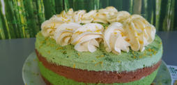 Macha Lemon Cake