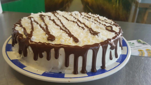 Chocolate coconut and cream cake