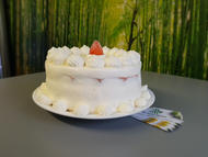 Strawberry and fresh strawberry cake