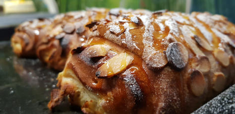 Sweet bread Covered in Caramelized Almonds