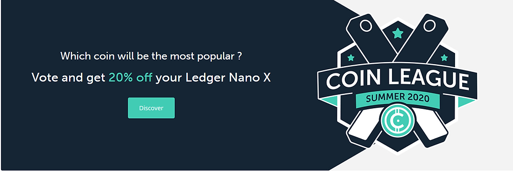 Ledger Nano X Promotion: Coin League 2020
