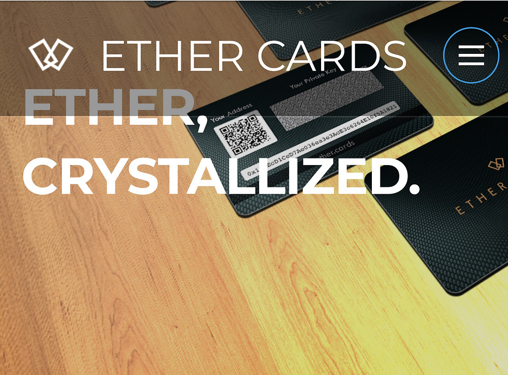 Ether cards, Ethereum gift cards anyone can buy