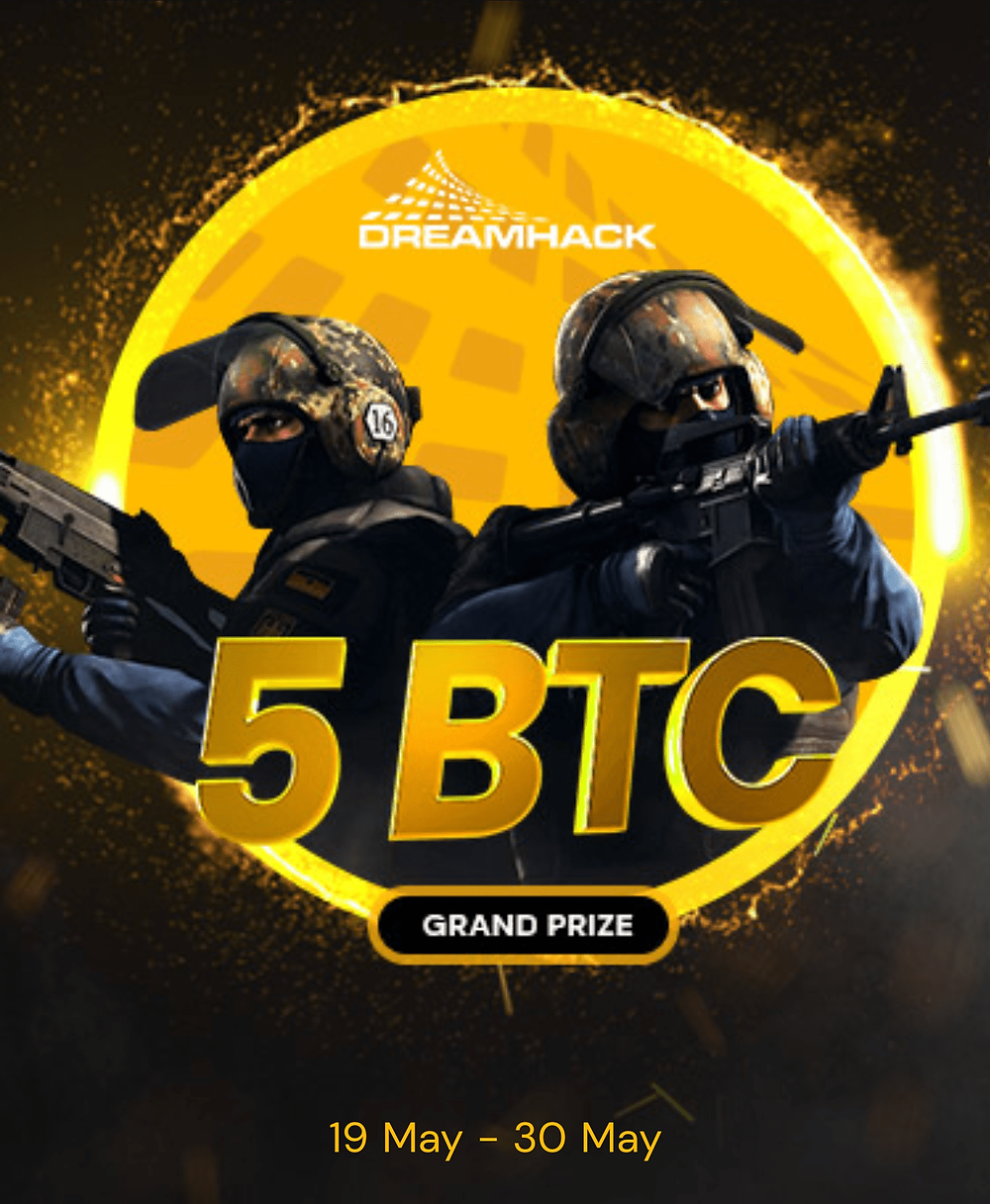 Win 5 bitcoin plus 3 CS:GO skins at Fortunejack